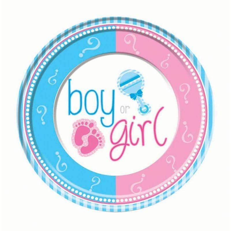 Gender Reveal Large Plate