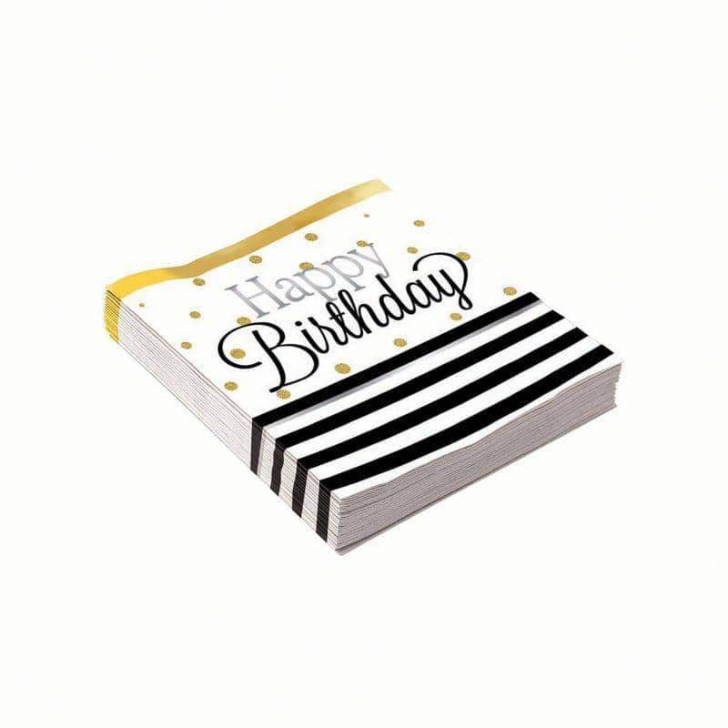 Birthday Elegant Small Napkins