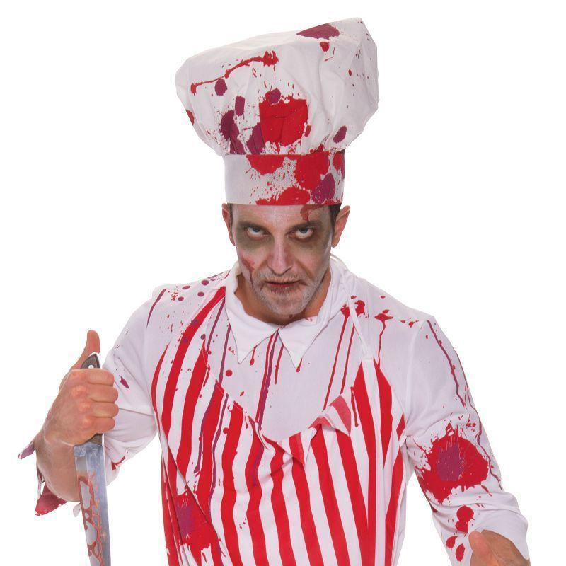 "Mens Butcher Bloody. (Adult Costumes) Male Chest Size 44"" Halloween Costume-Adult Costumes > Generic Mens Costumes-MAD USA"