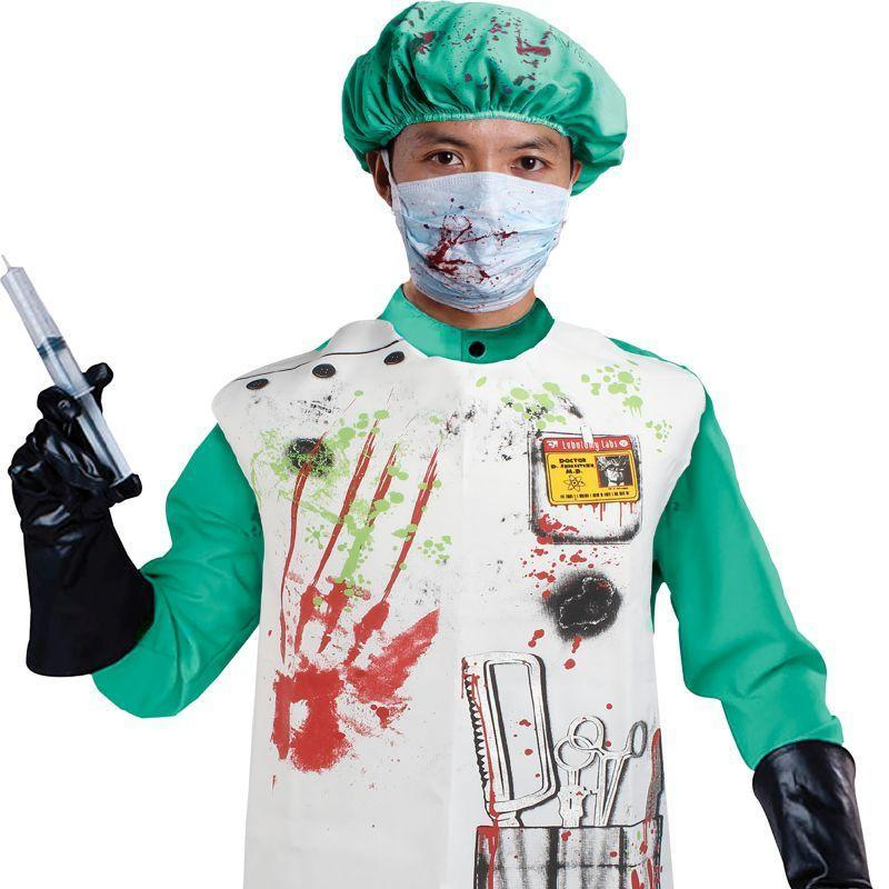 Mens Doctor Set Bloody (Apron + Hat). (Instant Disguises) Male One Size-Instant Disguises-MAD USA