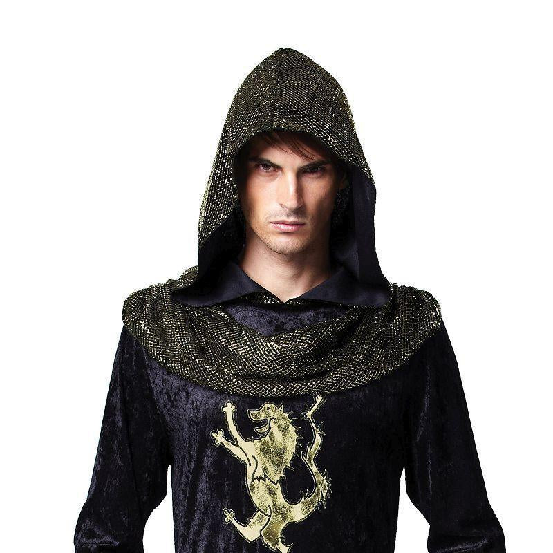 Mens Medieval Prince (Hooded Robe). (Adult Costumes) Male One Size-Adult Costumes > Generic Mens Costumes-MAD USA