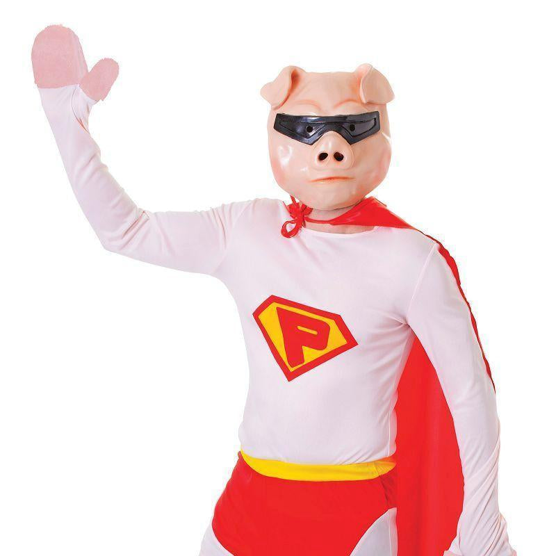 "Mens Super Pig + Mask. (Adult Costumes) Male Chest Size 44"" Halloween Costume-Adult Costumes > Generic Mens Costumes-MAD USA"