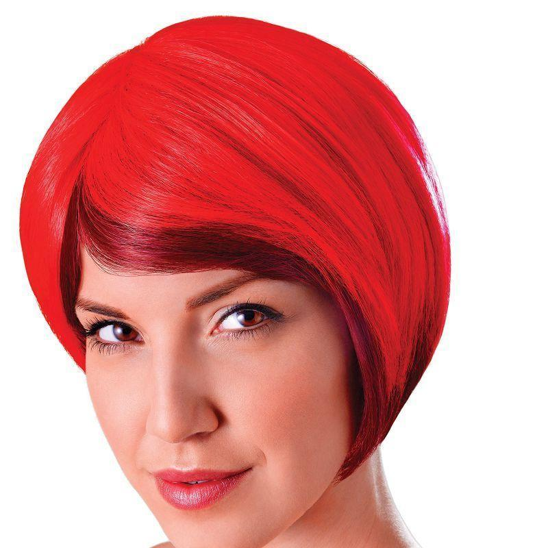 Womens Blended Bob. Red/Black . (Wigs) - Female - One Size Halloween Costume-Wigs > Ladies Wigs-MAD USA