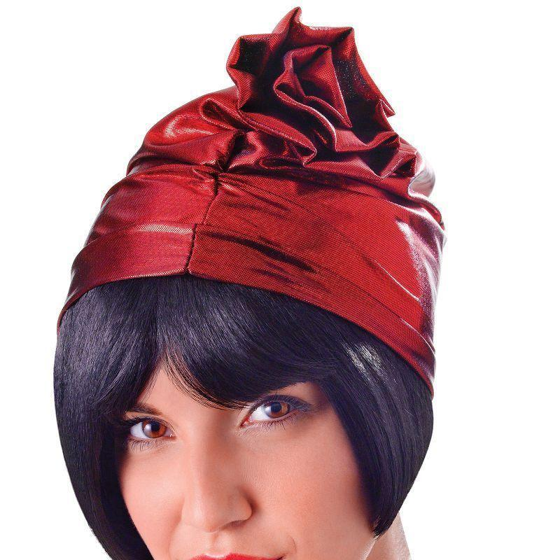 Womens Cloche 20s Hat. Red. (Hats) - Female - One Size Halloween Costume-Hats-MAD USA