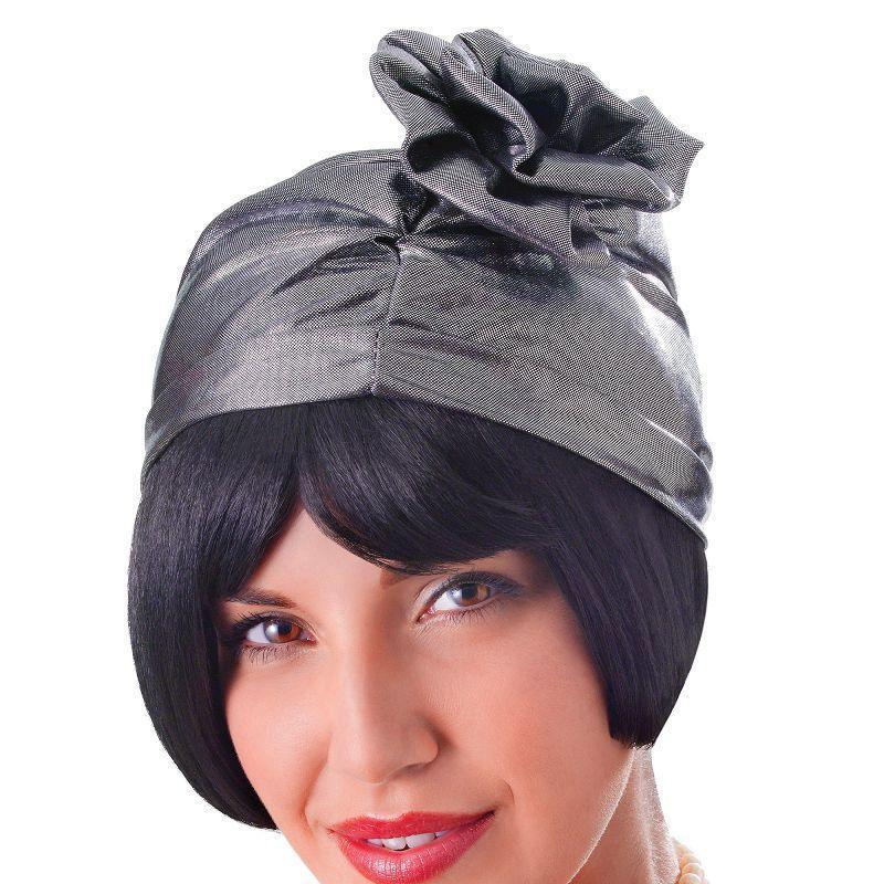 Womens Cloche 20s Hat. Silver. (Hats) - Female - One Size Halloween Costume-Hats-MAD USA