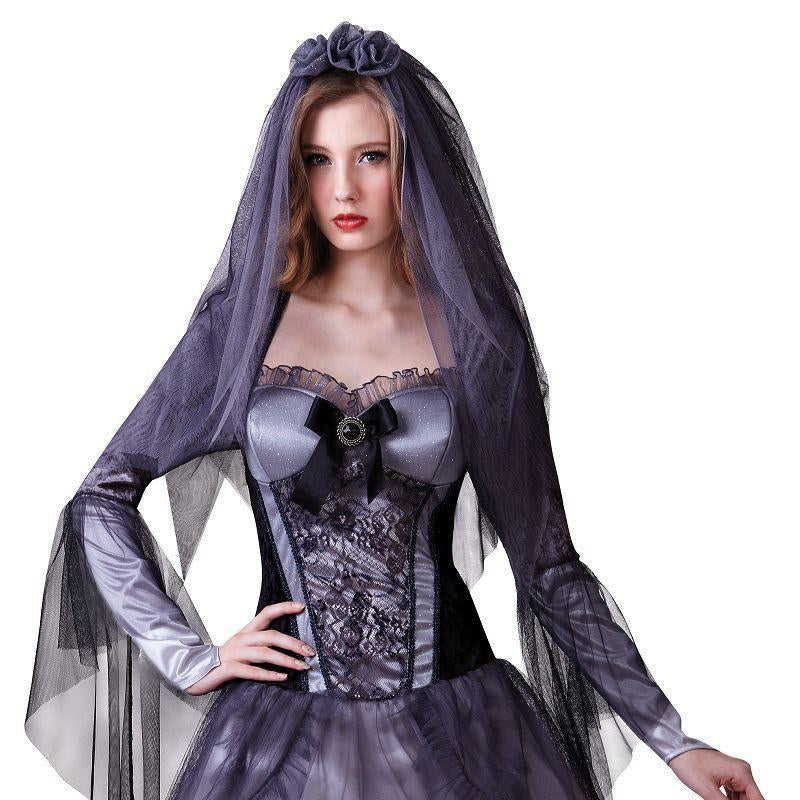 Womens Dark Bride. (Adult Costumes) - Female - UK Size 10-14 Halloween Costume-Generic Costumes > Generic Mens Costumes-MAD USA