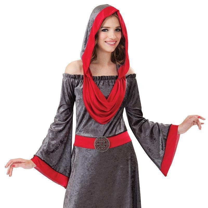 Womens Deathly Woman. (Adult Costumes) - Female - UK Size 10-14 Halloween Costume-Generic Costumes > Generic Mens Costumes-MAD USA