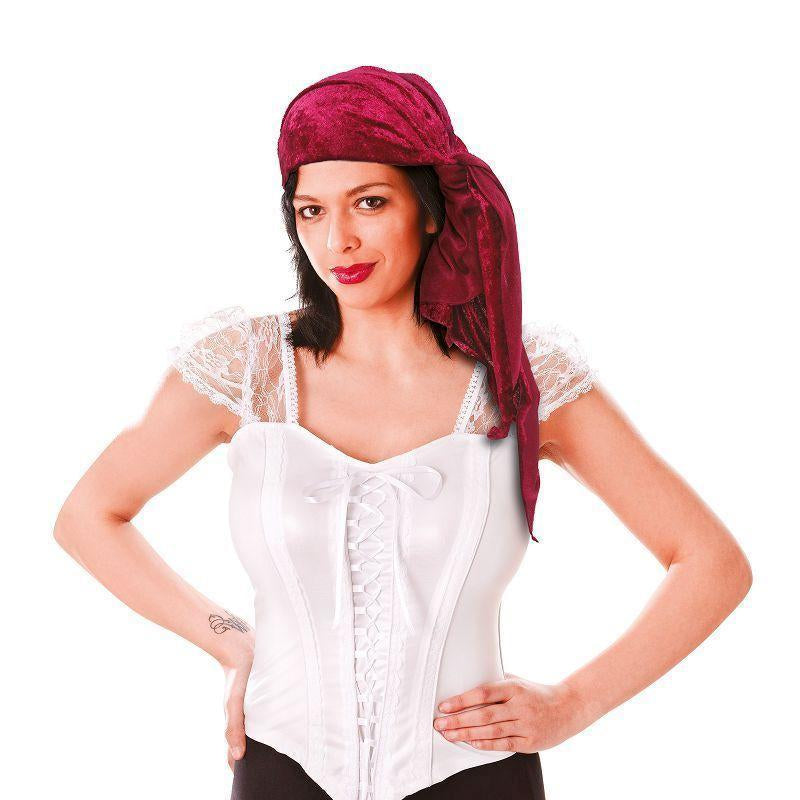 Womens Pirate Bandana. Velvet, Female. (Costume Accessories) - Female - One Size Halloween Costume-Costume Accessories-MAD USA