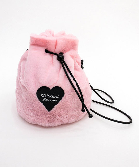 Faux Fur Pink Bag