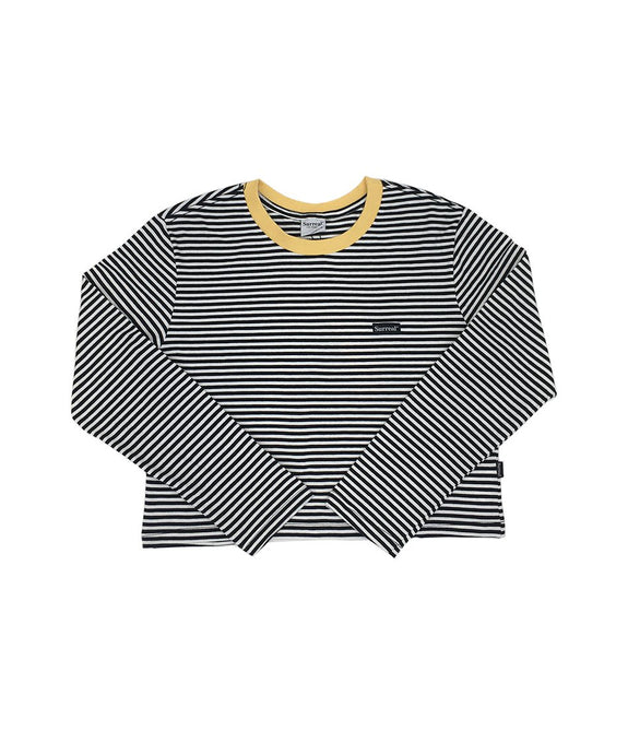 Bee Stripes Cropped Long Sleeve