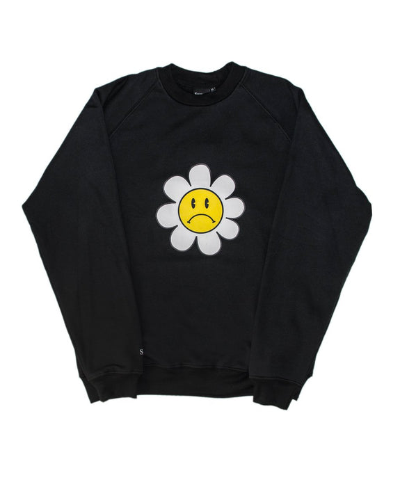 Sad Flowers Crew Neck Raglan Sweatshirt