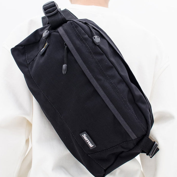 Black Cordura Big Shoulder Bag