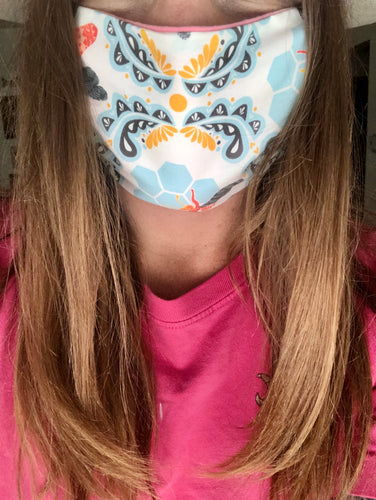 "Villmark Headwear ""The Busy Bee"" reversible color changing face mask"