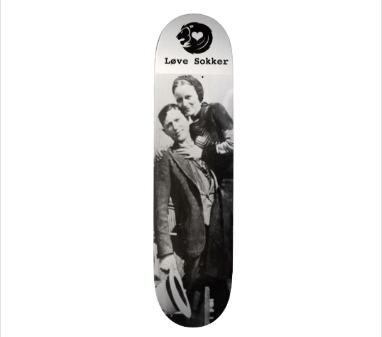 Bonnie and Clyde Skateboard