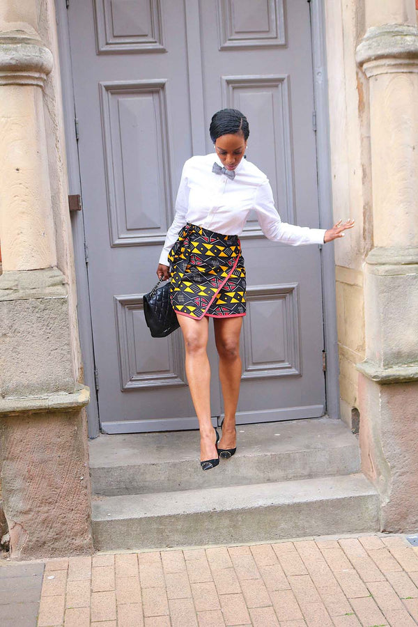 CASSIE WRAP MINI SKIRT