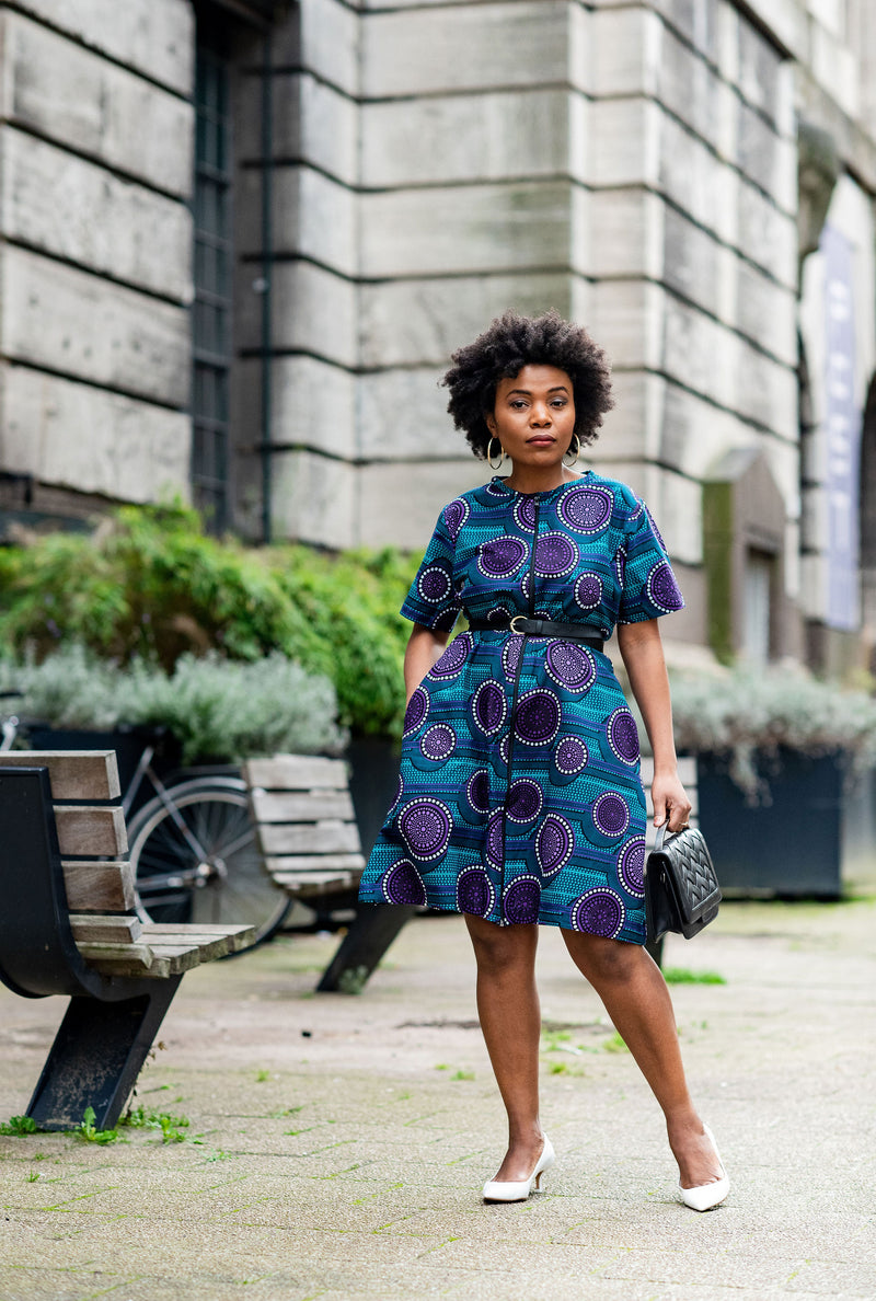 UZOMA PURLE SHIRT DRESS