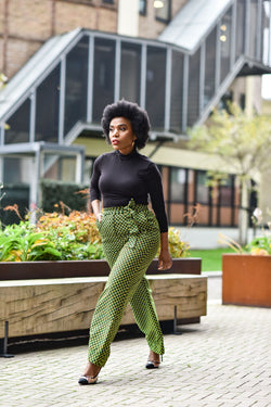 LADI GREEN SCALES TROUSER