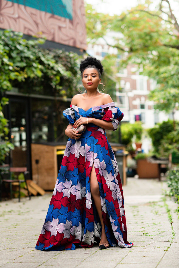 ANAN OFF SHOULDER MAXI DRESS