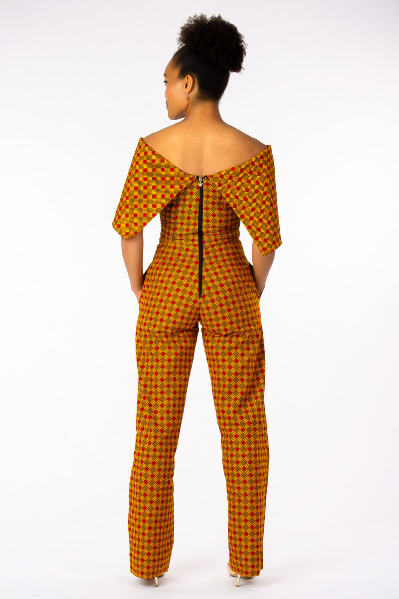 MAKEDA ORANGE JUMPSUIT