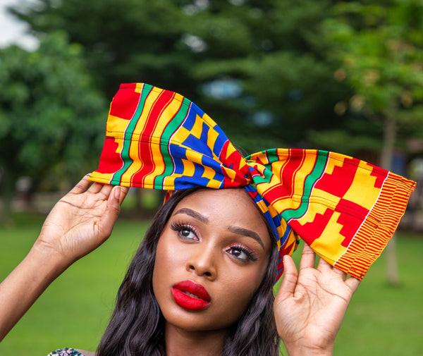 KENTE AFRICAN PRINT WIRED HEADWRAP