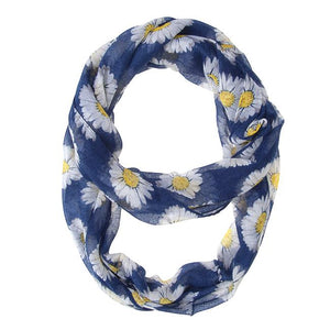 Sunflower Blue Infinity Scarf