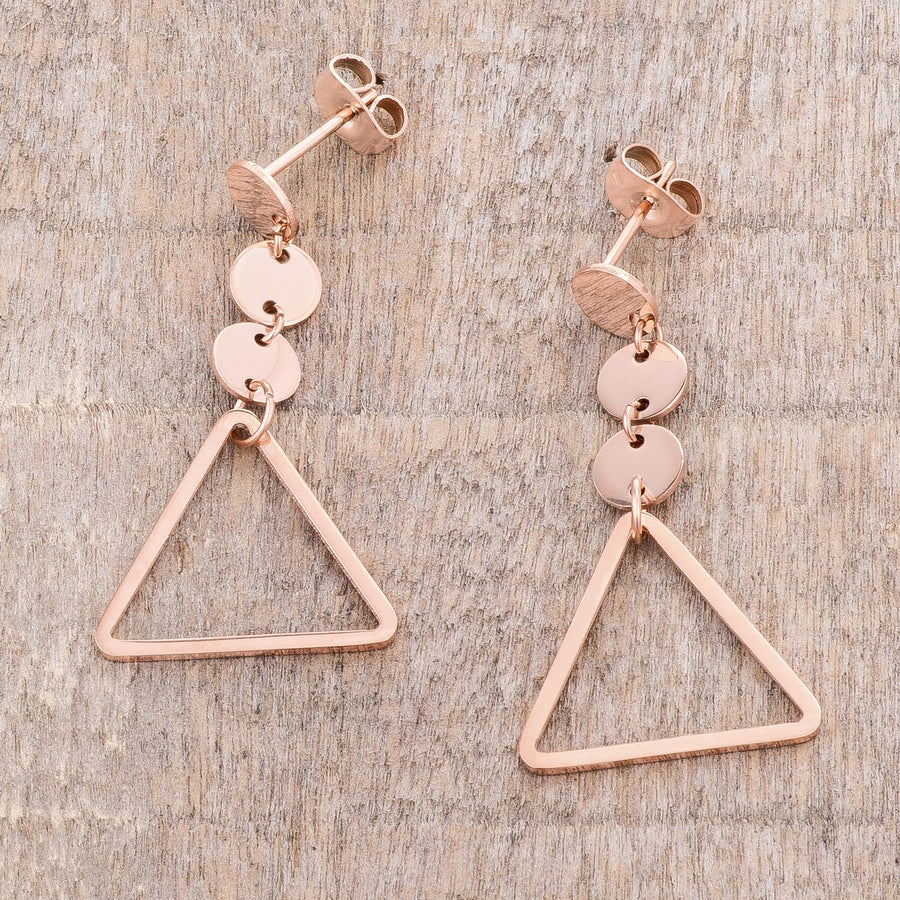 Trendy Triangle Stainless Steel Drop Earrings