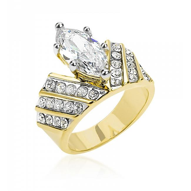 Three Ring Two-tone Finish Eternity Set