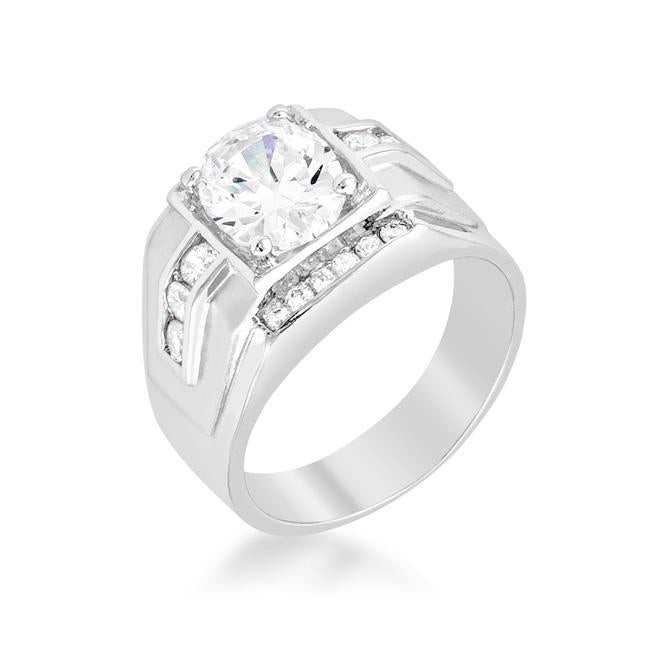 Brilliant Mens Cubic Zirconia Ring