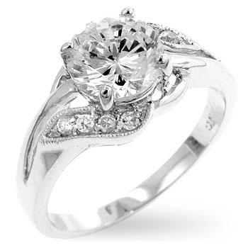 Timeless Clear Engagement Ring