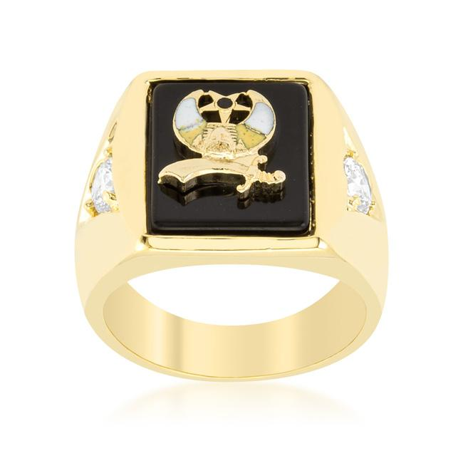 3-Stone Shriners Mens Ring