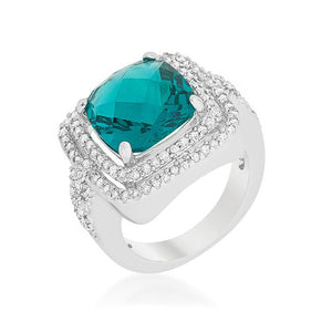 Two-tone Double Halo Cocktail Ring