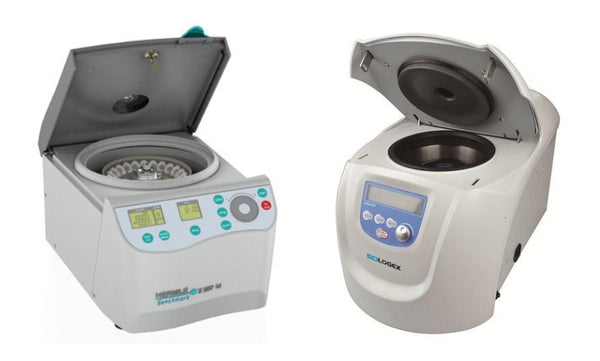 Centrifuges with aerosol-tight gaskets.