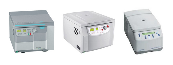 Examples of refrigerated centrifuges.
