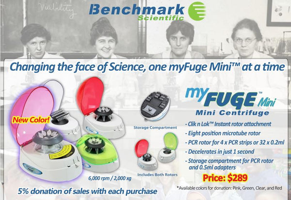 Benchmark myFuge Mini flyer.