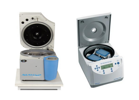Centrifuges with safety features.