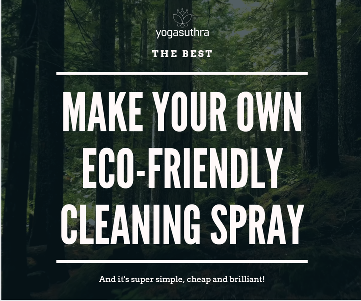 Super eco-friendly cleaning spray which you can make yourself!