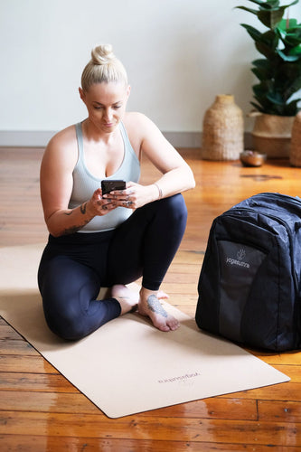 Yoga Mat and Backpack Bundle - Natural Cork and Rubber 3mm mat with discounted yoga backpack