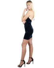 Load image into Gallery viewer, Chalette Velvet Mini Dress