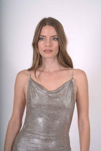 Load image into Gallery viewer, Gloaming Shiny Silver Mini Dress