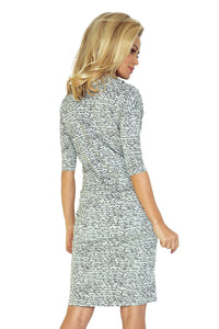Sports dress with binding - light gray + Subtitles 44-4