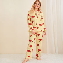 Load image into Gallery viewer, Plus Cartoon Print Button Front Pajama Set