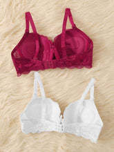 Load image into Gallery viewer, Floral Lace Underwire Bra Set 2pack