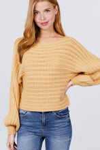 Load image into Gallery viewer, Dolman Sleeve Boat Neck Sweater