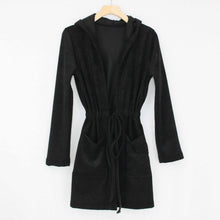 Load image into Gallery viewer, Hooded Waist Tie Cardigan