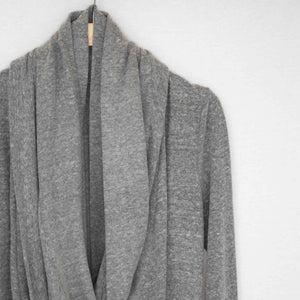 Twist Front Long Sleeve Cardigan