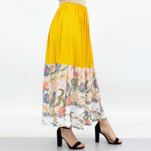 Load image into Gallery viewer, Floral Color Block Skirt - Yellow