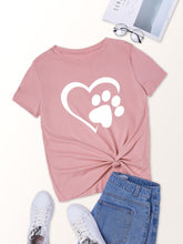 Load image into Gallery viewer, Footprint And Heart Print Tee