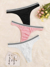 Load image into Gallery viewer, Striped Trim Panty Set 3pack