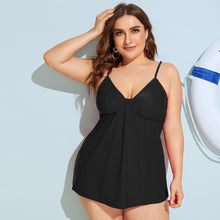 Load image into Gallery viewer, Plus Detachable Straps Top With High Waist Tankini