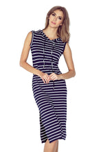 Load image into Gallery viewer, Dress with hood - long - stripes MM 012-1